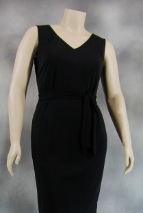 Sleeveless V-Neck Sheath Dress